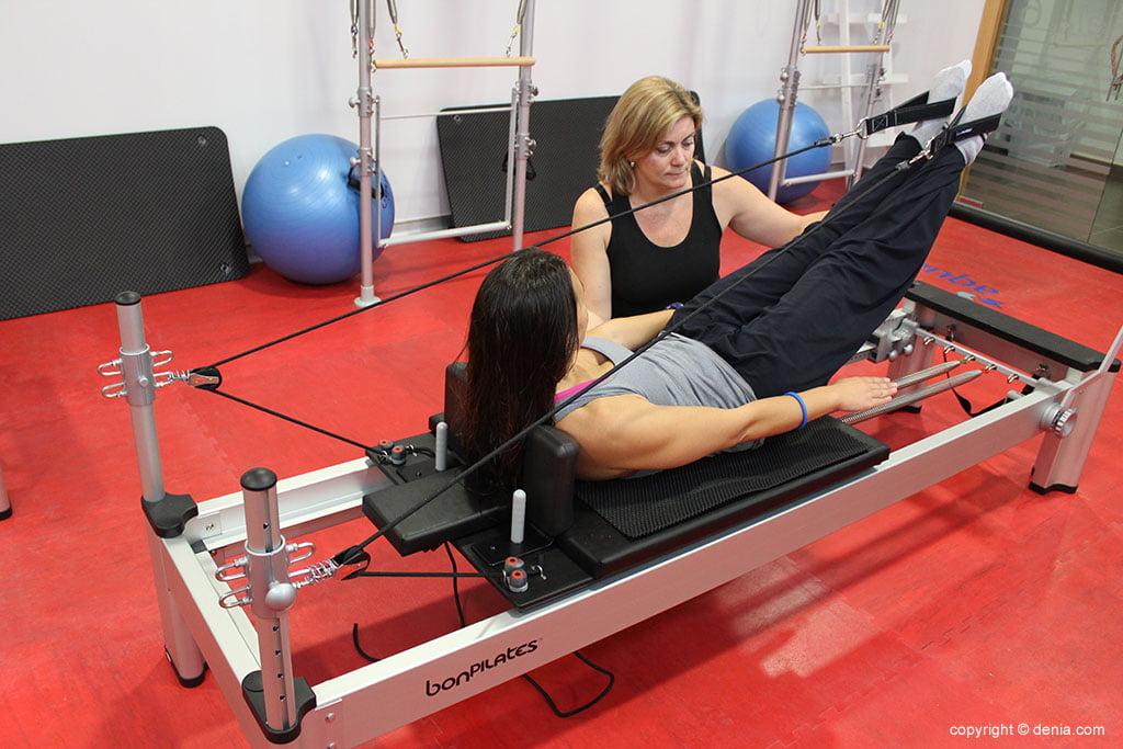 classe de pilates amb màquines