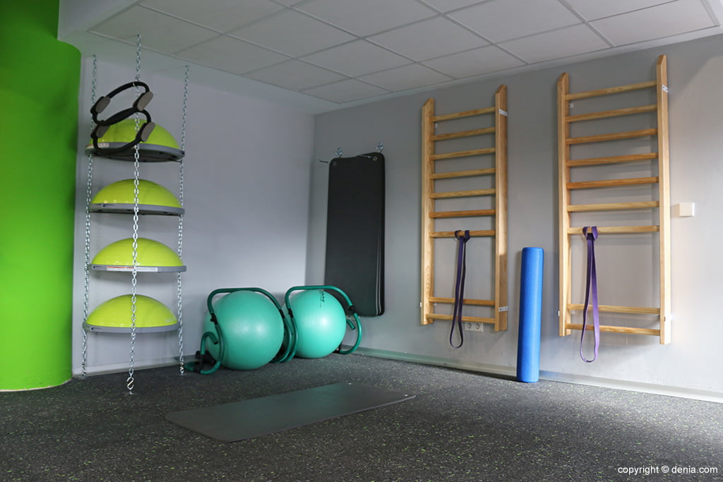 Zona estiraments Centre Esportiu Dénia