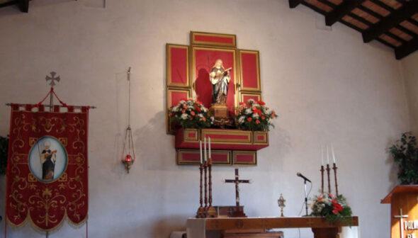 Altar da capela de Santa Paula