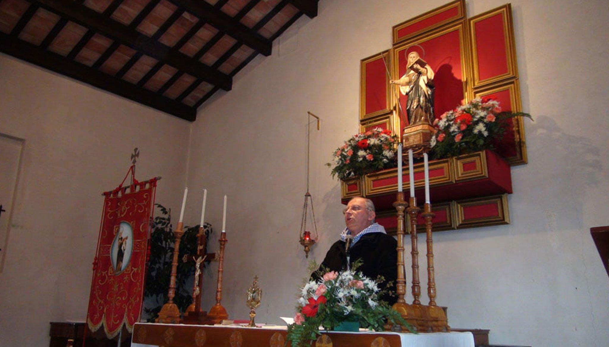 Celebración de la misa de Santa Paula