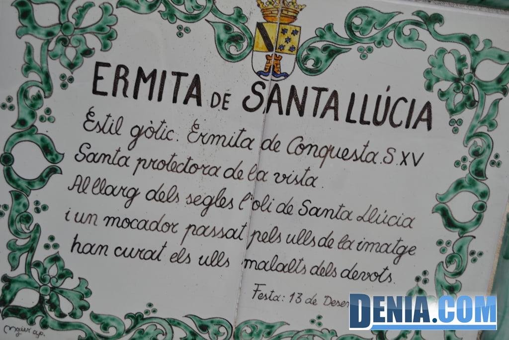 Explicación de la ermita de Santa Lucía