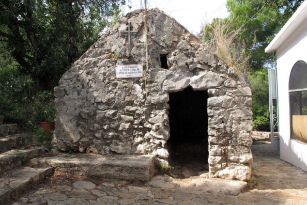 Image: Exterior of the Hermitage of Pare Pere and its little house