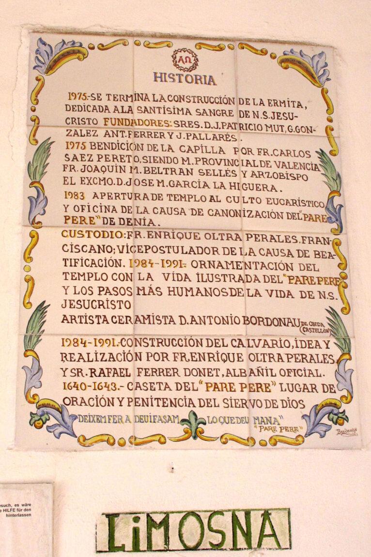 Historia de la Ermita del Pare Pere de Dénia