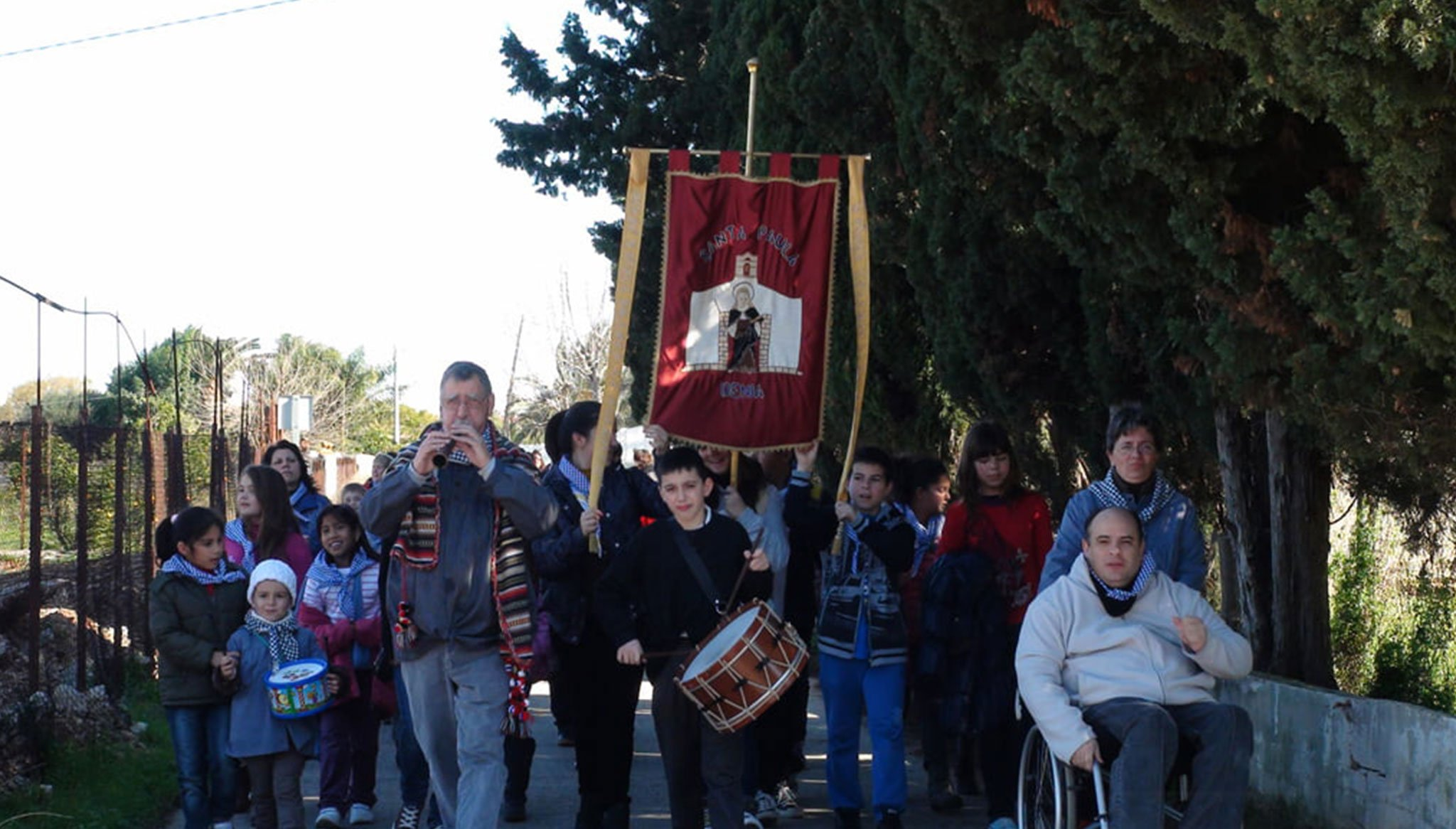 Llegando a la Ermita de Santa Paula
