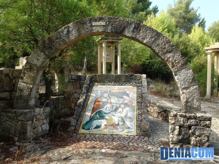 Portal de Belén en el Vía Crucis de la Ermita del Pare Pere de Dénia