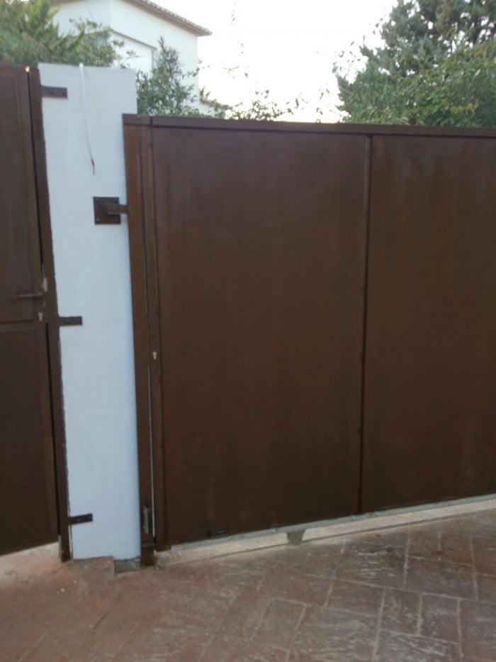 Puertas de acero corten d nia archivos d for Tiradores para puertas de entrada