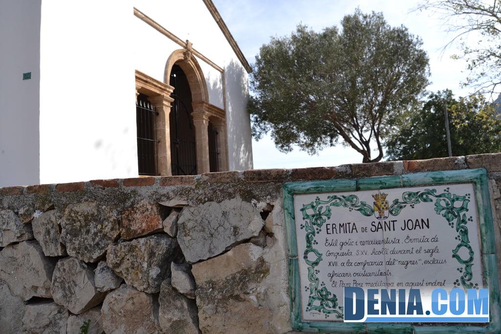 Texto explicativo en la ermita de San Juan de Dénia
