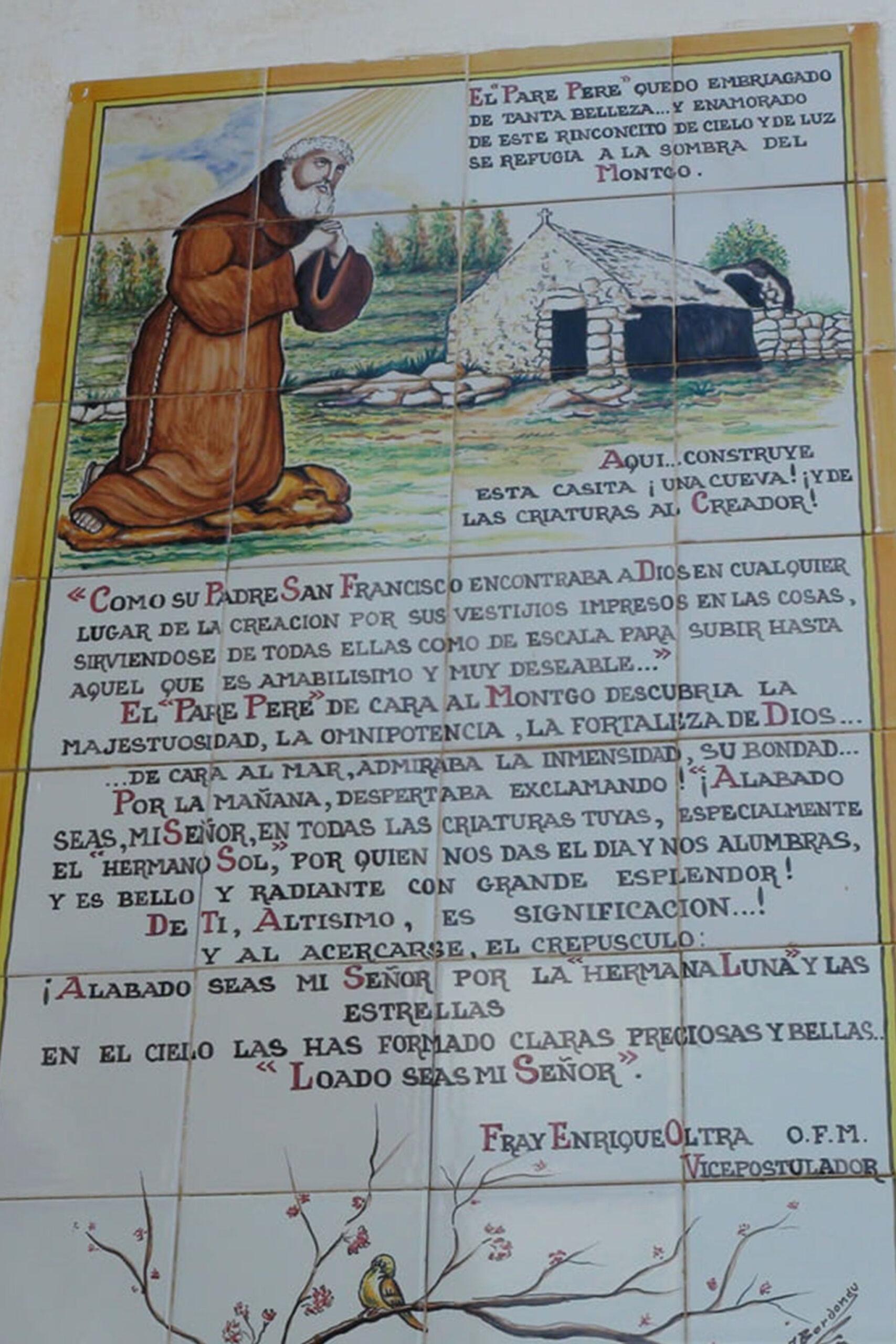 Textos al Pare Pere en la Ermita