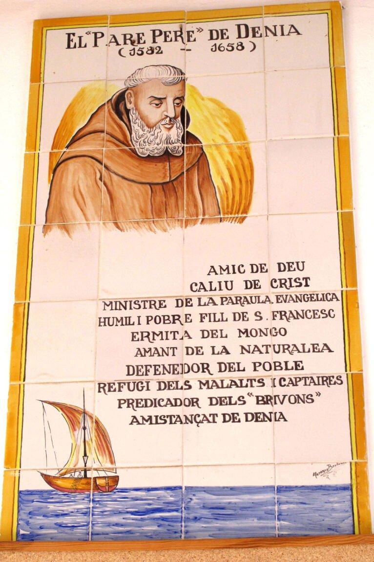 Textos en a ermita del Pare Pere de Dénia