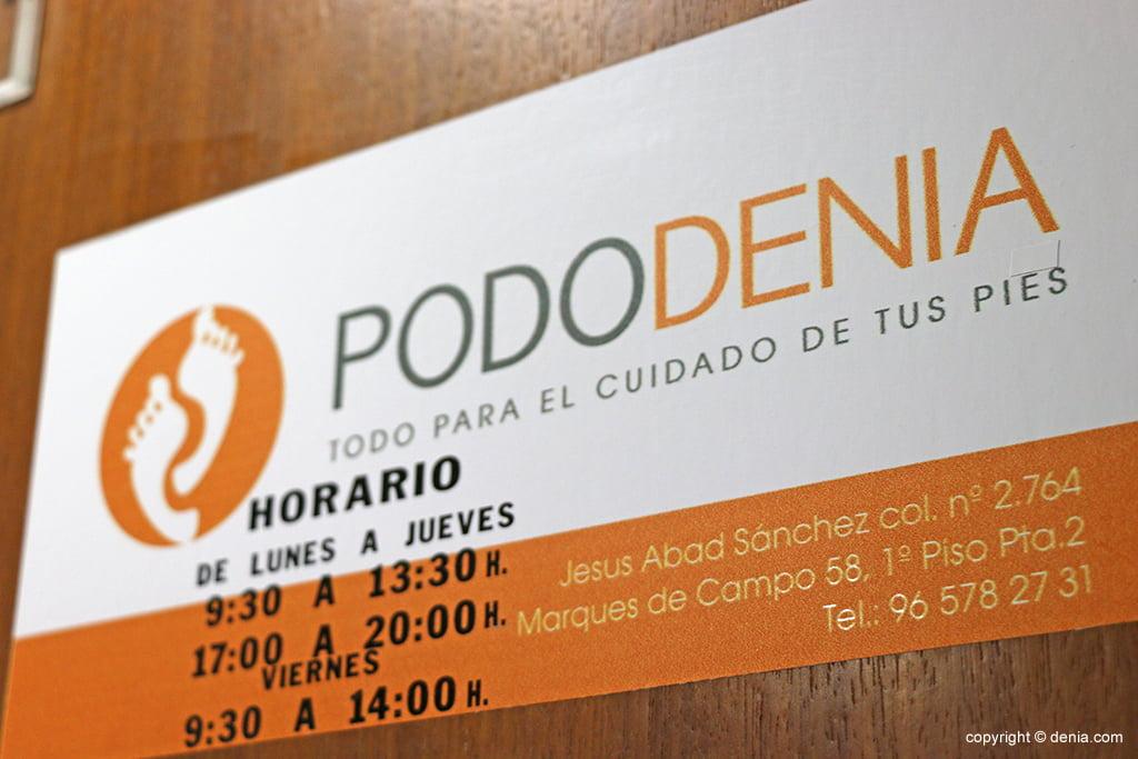 horari PodoDenia