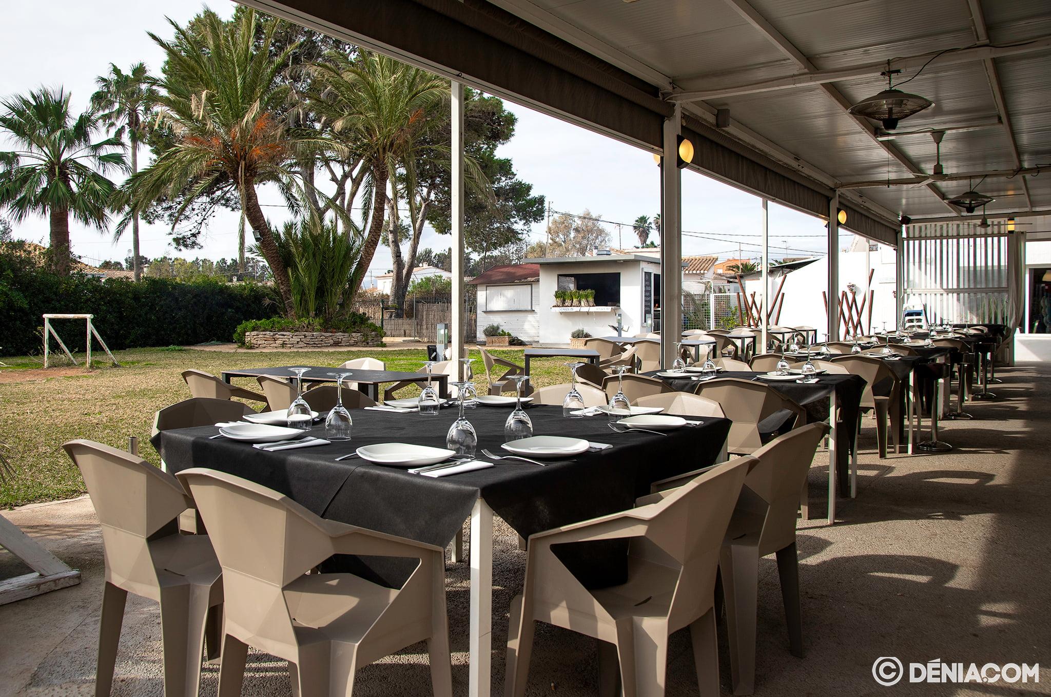 Terrasse du restaurant Voramar