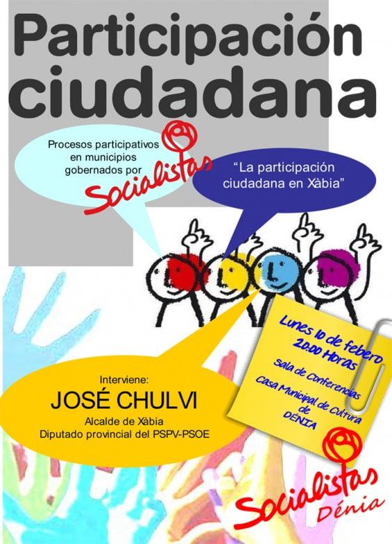 parler Chulvi sur la participation des citoyens