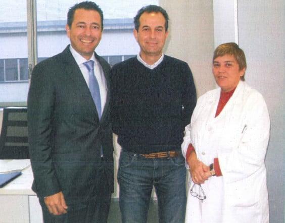 El nuevo comisionado del departamento de salud de Dénia con representantes de Intersindical Marina Alta