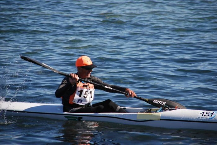 Juan Carlos Pérez en la Copa de España de Kayak de mar
