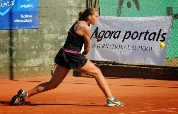 Silvia Bordes, jugadora del Club Tenis Dénia