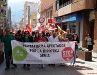 Cabeza Manifestción PAH Dénia 12 de abril