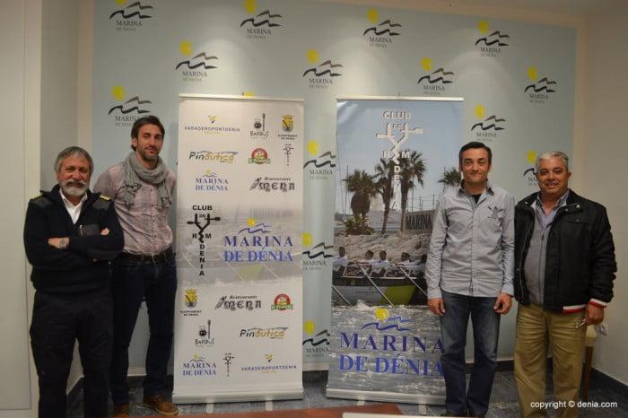 Gabriel Martínez, Juan Carlos Signes, Miguel Camarena y Fernando Marí presentaron la regata de remo