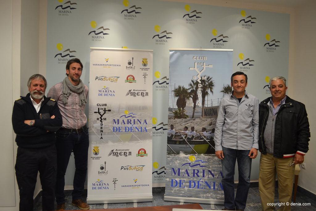 Gabriel Martínez, Juan Carlos Signes, Miguel Camarena and Fernando Marí presented the rowing regatta