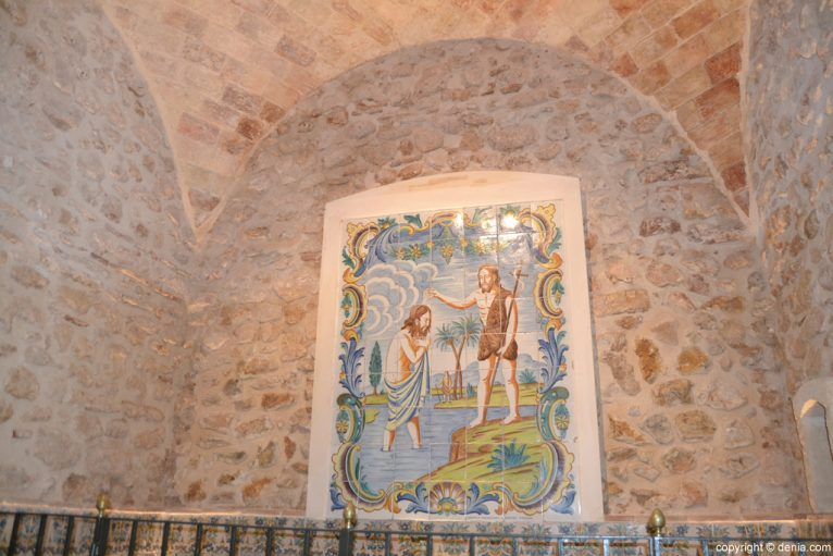 Detalle de la capilla del Bautismo