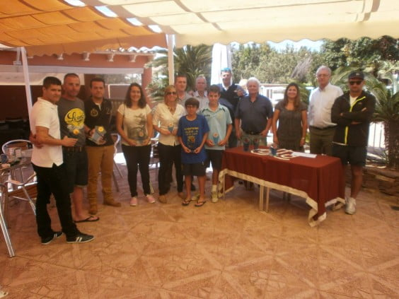 Prizegiving in Dénia Tennis Club