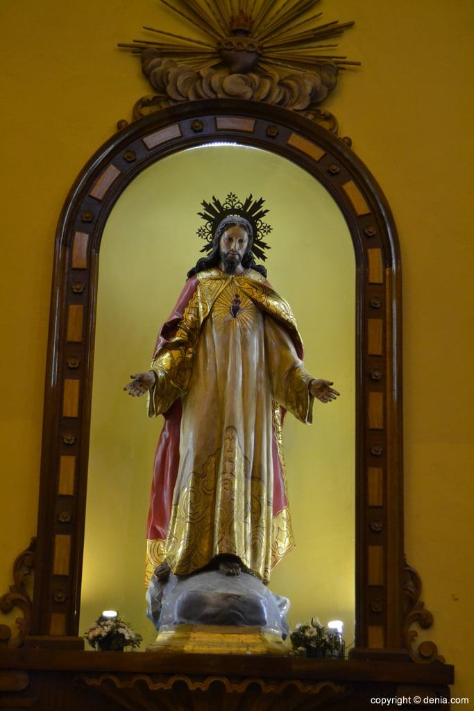 Imagen de Jesucristo en la Iglesia de San Antonio