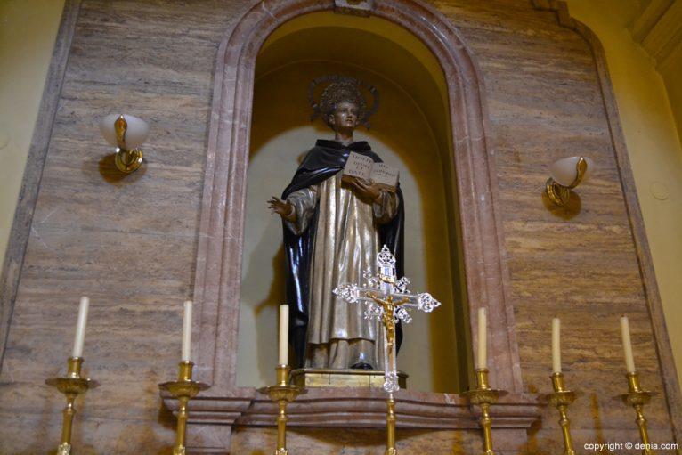 Imagen de San Vicente en la Iglesia de San Antonio de Dénia