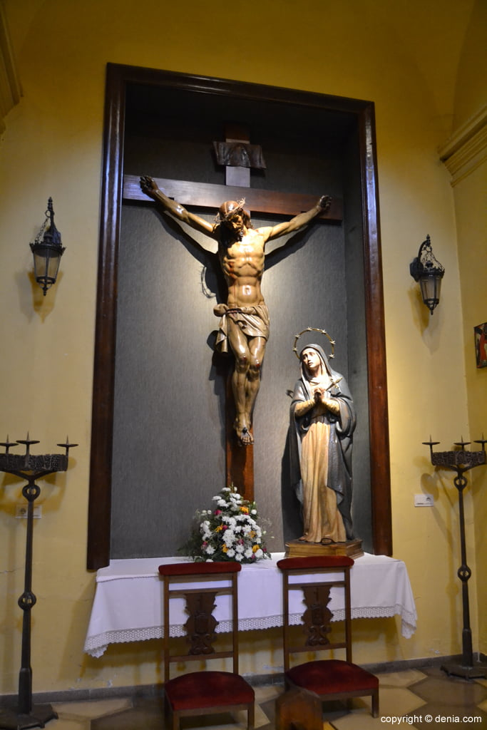 Jesucristo y la Virgen en la Iglesia de San Antonio