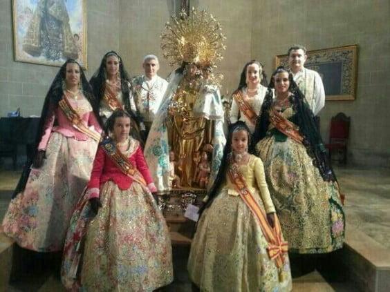 Las FFMM de Dénia junto a la Virgen