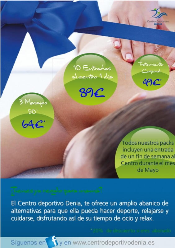 Mother's Day packages Dénia