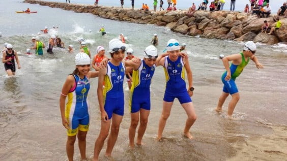 Triathletes of the Municipal School of Dénia