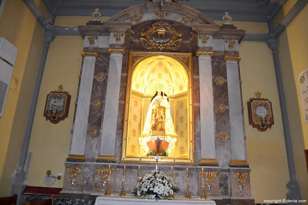 Virgen de los Desamparados en la Iglesia de San Antonio