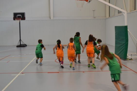 Children at the Campus Basketball