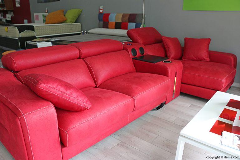 OK divano divano rosso