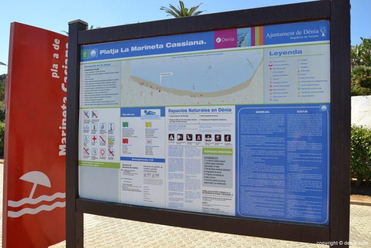 Información sobre la playa de la Marineta Cassiana