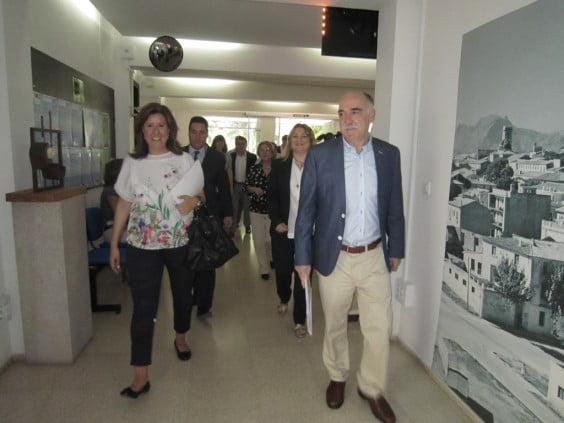 Llegada de los participantes a la reunión del consorcio de la UNED