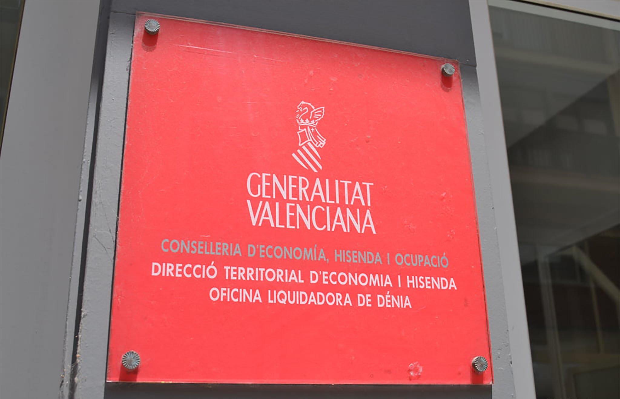 Placa de la Generalitat valenciana