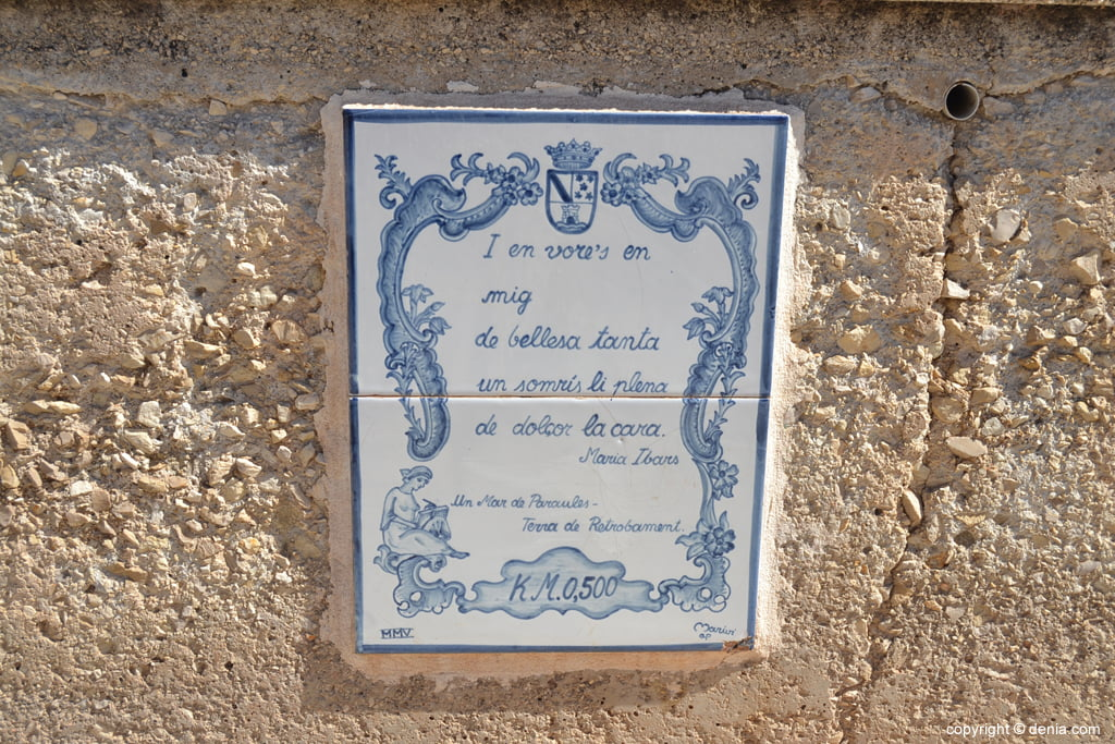 Poema de Maria Ibars en la Marineta Cassiana