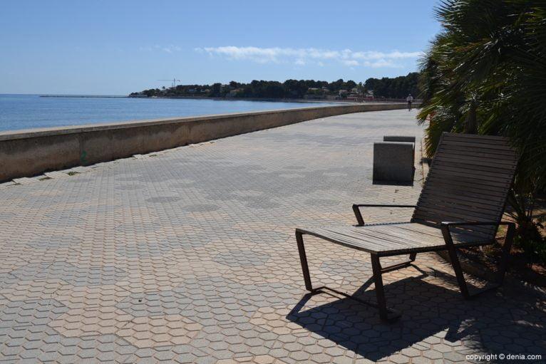Zona de descanso paseo de la Marineta