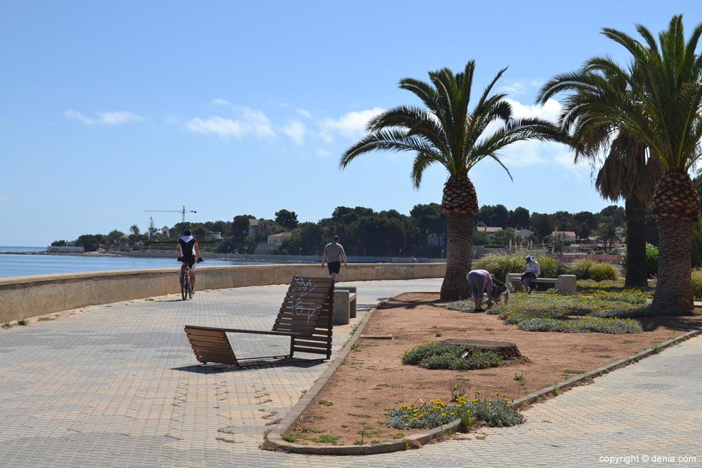 Zona de paseo de la playa de la Marineta