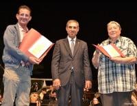 Paco Arnau con Enric Murillo y Paco Muñoz