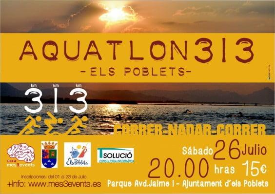 Cartel anunciador del Aquatlón de Els Poblets
