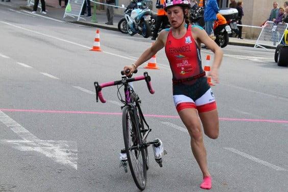 Andrea Fernández promise of the Spanish Triathlon