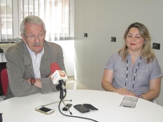 El Rector de la UNED con Raquel Martí