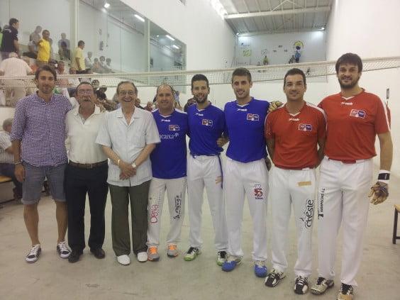 Juan Carlos Signes with the finalists Trofeo Ciudad de Dénia 2014