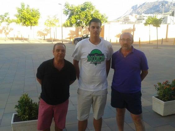Xavi Mesegué, con Manue Herrera y Manolo Viciano