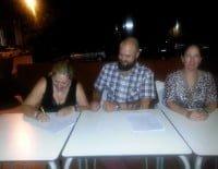 Firma con el artista rafa Cheli