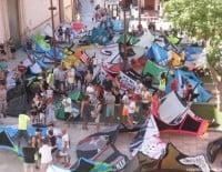 Manifestación kite en Dénia