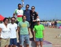 El vencedor Oscar Estrada junto a J. Antonio Segura y Borja Franco