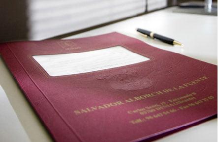 Folder notary Salvador Alborch