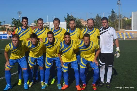 CD starting XI. Dénia against R. Colon